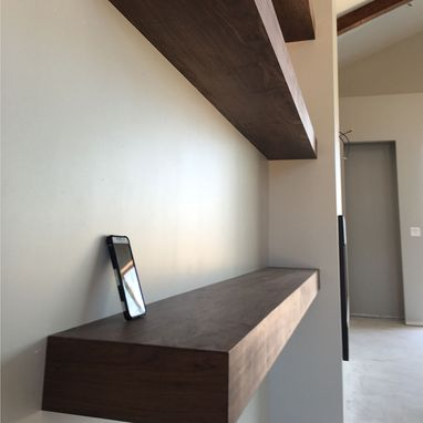 Custom Made Floating Shelves -- Walnut Plywood