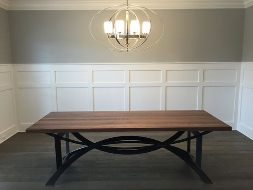 Custom Made Modern Rustic Dining Room Or Confernce Table With Dc Base