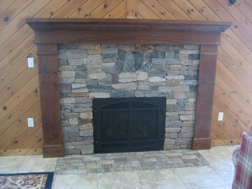 Custom Made Cherry Fireplace Surround
