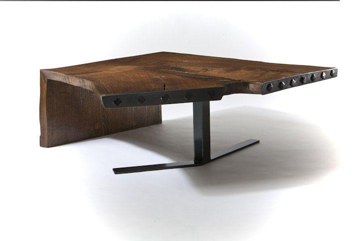 hand crafted reclaimed oak wood coffee tablejg custom design