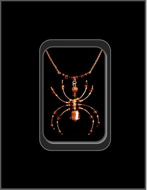 Custom Made Spider Jewelry,Spider Necklace,Halloween Jewelry,Gothic Jewelry,Spider Lovers