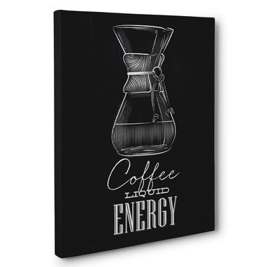 Custom Made Coffee Liquid Energy Kitchen Canvas Wall Art