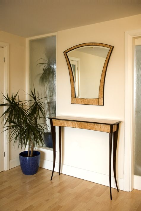 Hand Crafted Hall Table And Mirror By Nicholas Chandler