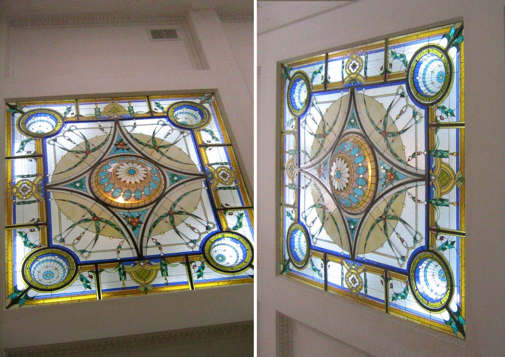 Custom Stained Glass Sky Lights By Casa Loma Art Glass