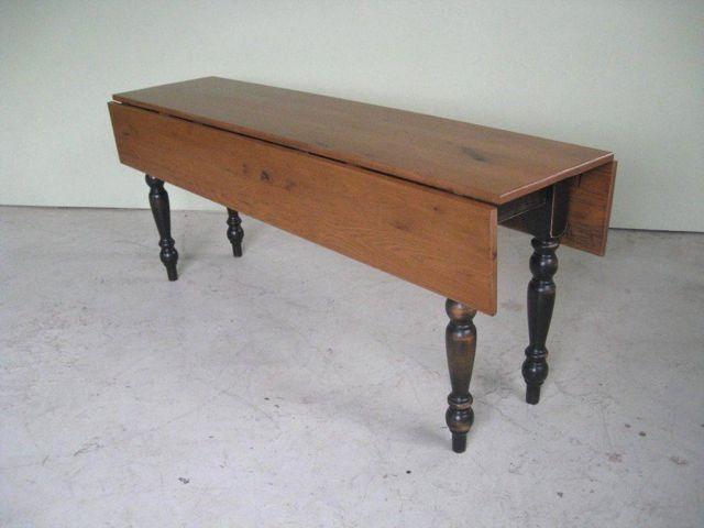 Custom Made Oak Drop Leaf Dining Table
