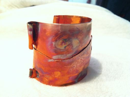 Custom Made Hand Forged And Hammered Copper Cuff