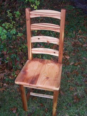 Custom Made Arched Slat Dining Chairs Custom Made From Vintage Reclaimed Pine