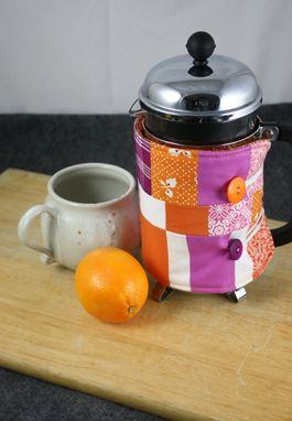 Custom Made French Press Coffee Cozy, Textile Arts