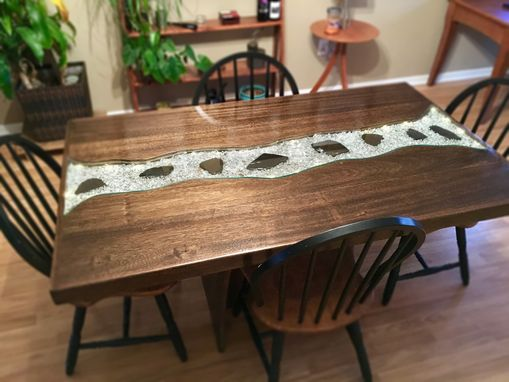 Handmade Starlight Glowing River Dining Table By Great