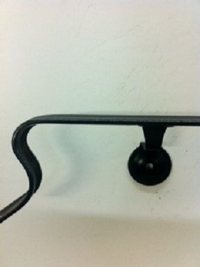 Custom Made 8' Wrought Iron Wall Mounted Handrail