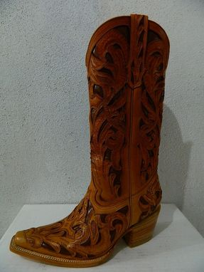 Custom Made Hand Tooled Cowboy Boot Made To Order Any Style From Gallery Or Send Picture.