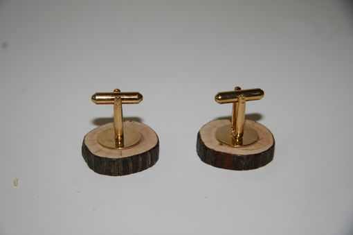 Custom Made Mountain Laurel Natural Cuff Links