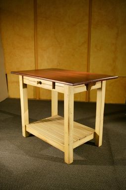 Custom Made Kitchen Island Furniture: European Sideboard In Barn Red With 6ft Table Top Fruitwood