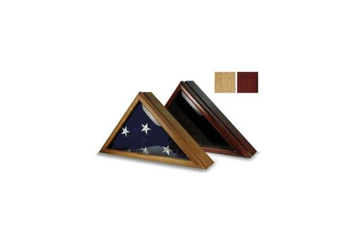 Custom Made Flag Display Case For 5' X 9.5' Burial Flag