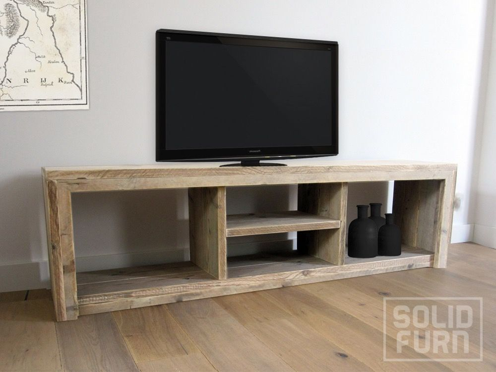 Buy a hand crafted custom made pinewood tv stand zion - Made com meuble tv ...