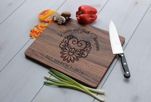 Custom Made Personalized Cutting Board, Engraved Cutting Board, Custom Wedding Gift – Cb-Wal-Laurenjoshthompson