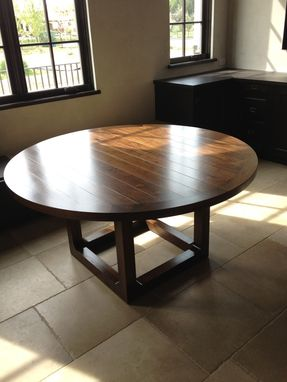 Custom Made Round Farmhouse Dining Table