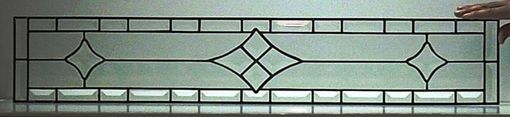 Custom Made Stained Glass Window / Simple Beveled Design (W-1)