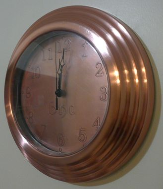 Custom Made Copper Wall Clock