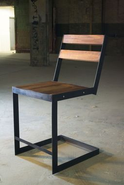 Custom Made Set Slim Steel Chairs (4)