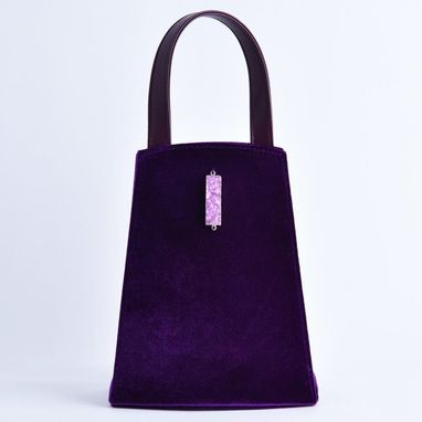 Custom Made Velvet Evening Dress Carrier Bag