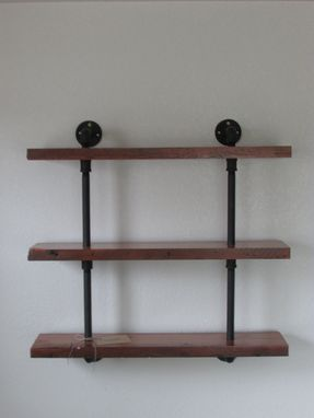 Custom Made Reclaimed Wood And Pipe Shelving Unit.