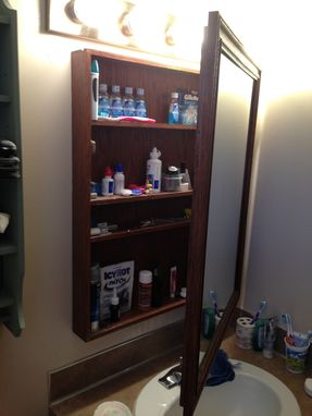 Custom Made Bathroom Mirror/Vanity Cabinet