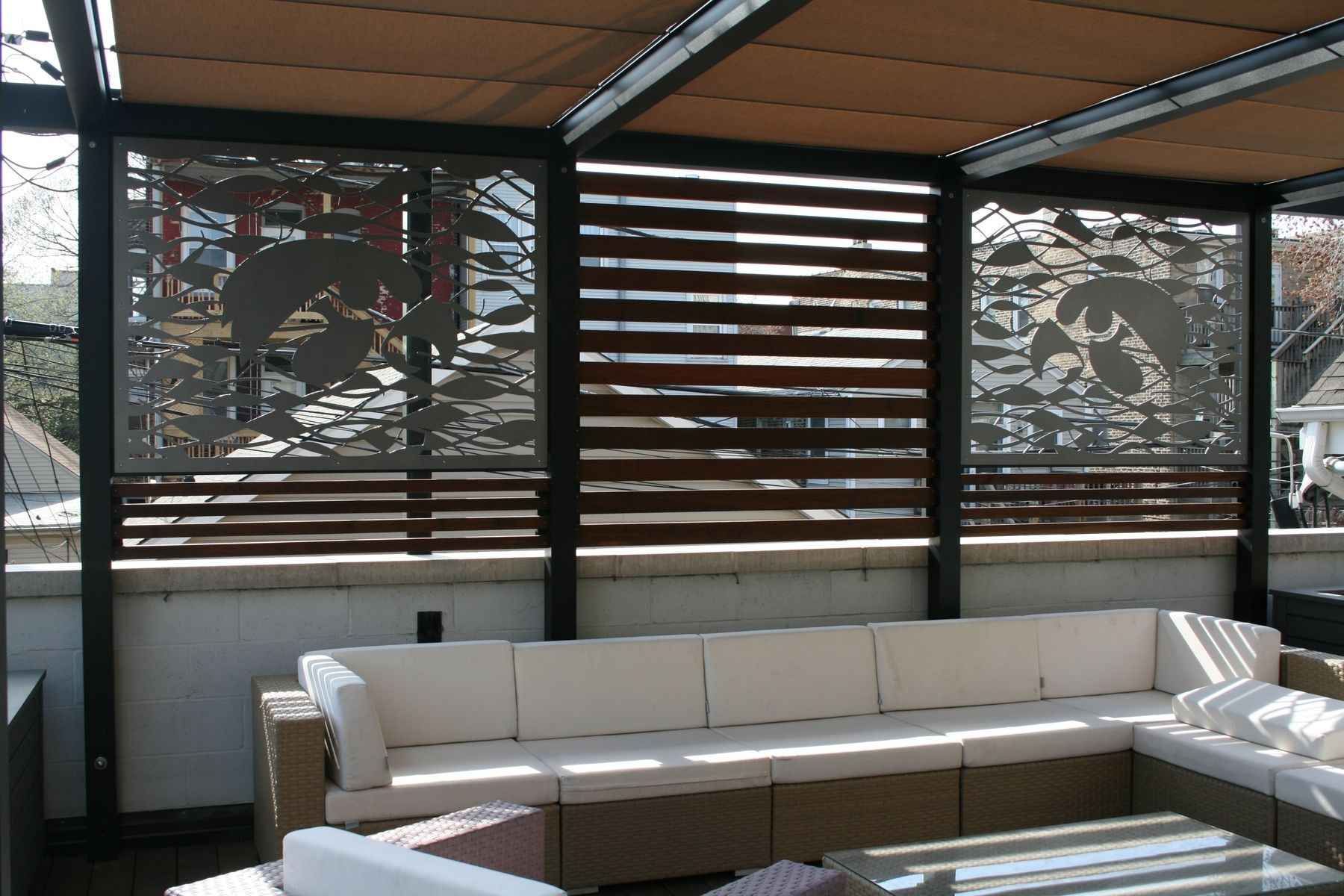 Custom Outdoor Metal Privacy Screens For Chicago Rooftop