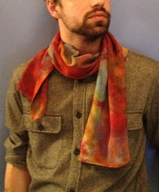 Custom Made Rayon Bamboo Abstact Scarf