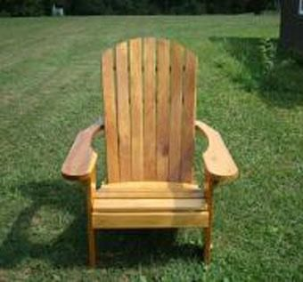 Custom Made Standard Adirondack Chair With Stainless Hardware