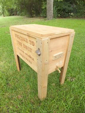 Custom Made Rustic Wood Cooler, Ice Chest, 90qt