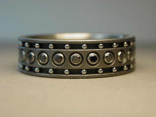 Custom Made Black Diamond Ring With Stainless Steel Balls