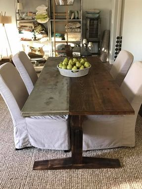 Custom Made Rustic/Industrial Dining Table With Reclaimed Wood.