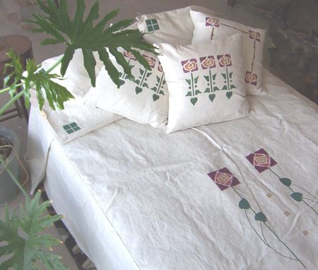 Custom Made Appliqued And Embroidered Bedding