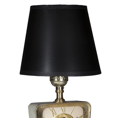 Custom Made Vintage Child's Safe Bank Mini Table Lamp