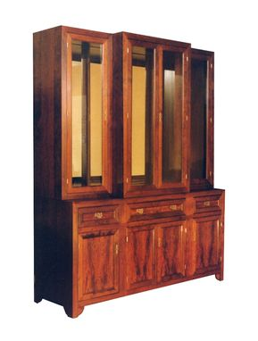Custom Made Custom Cherry Asian Influenced Cupboard