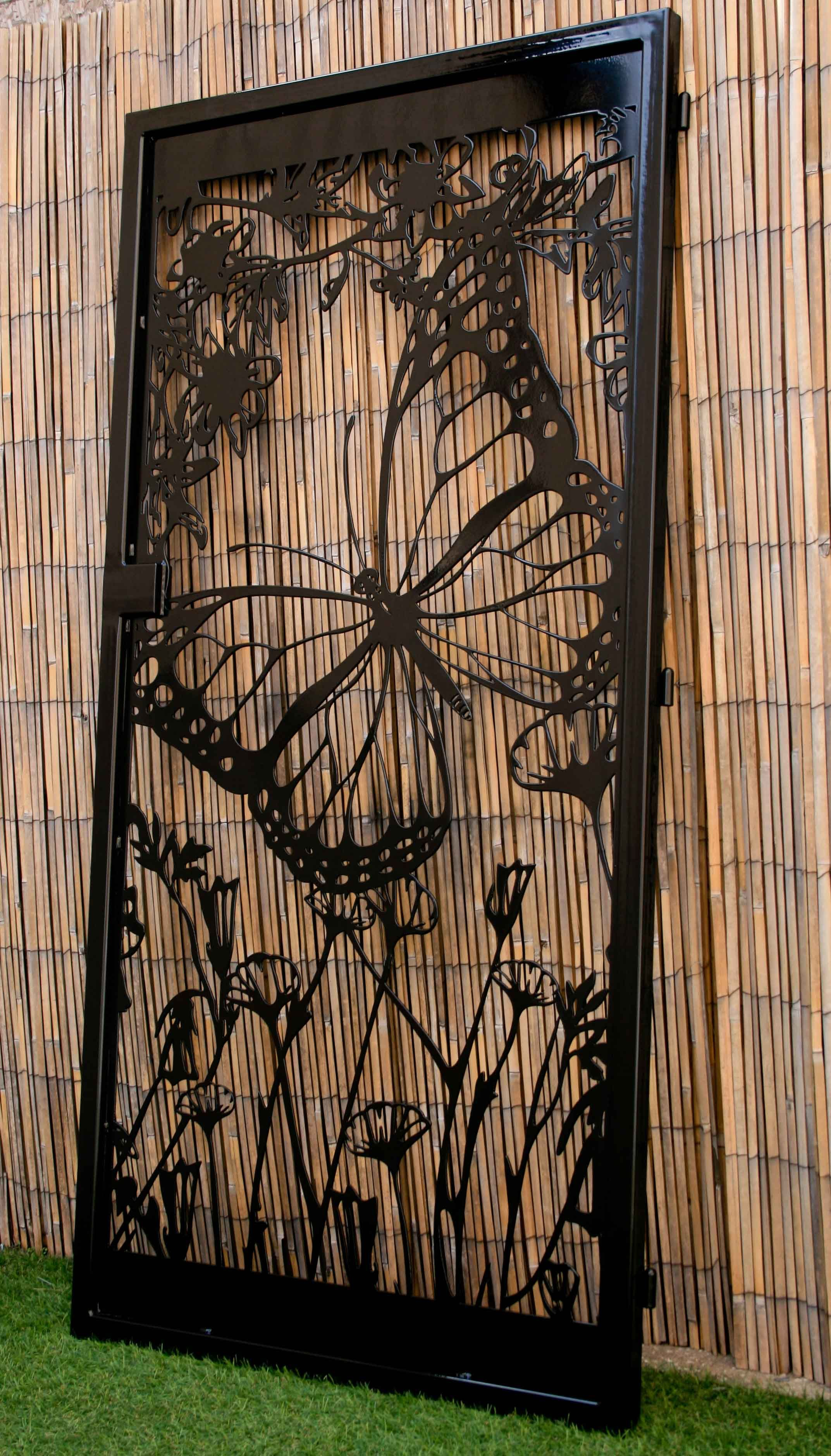 Buy Hand Made Floral Artistic Gate - Butterfly Decorative ...