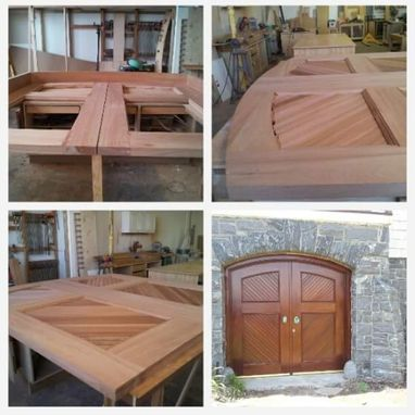 Custom Made Solid Mahogany Barn Doors