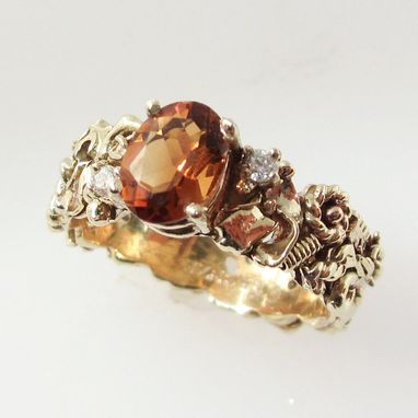 Custom Made Engagement Ring Designs - Made With Recycled Gold And Silver Metal Scraps