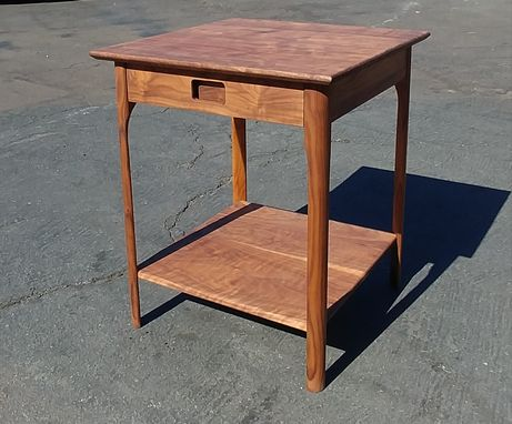 Custom Made Roger's Mid-Century-Modern Nightstand In Walnut