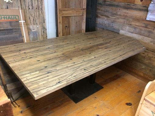 Custom Made Reclaimed Semi-Trailer Oak Breakfast Nook Table