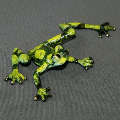 Custom Made Bronze Frog