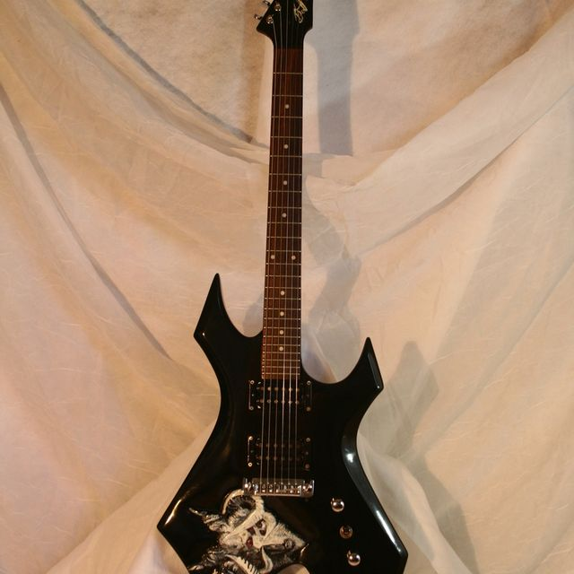 Custom Bc Rich Warlock Modification By Roellers Custom Guitars