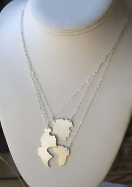 Custom Made Pangaea Necklace In Sterling Silver