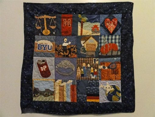 Custom Made Custom Memory/Life Quilt- Wall Hanging To Celebrate Someone's Life!