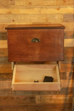 Custom Made Floating Nightstand With Hidden Compartment
