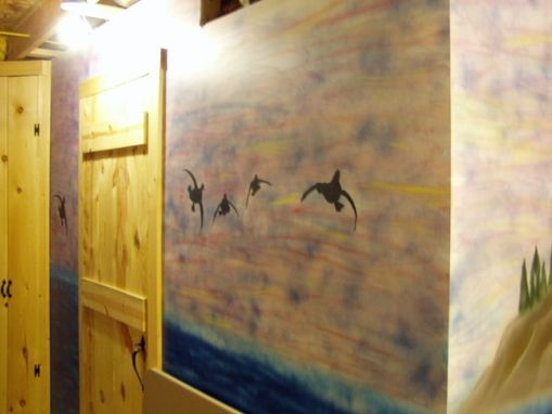 Custom Made Airbrushed Basement Wall Mural
