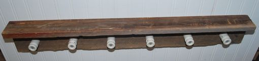 Custom Made Rustic Barnwood Coat Or Hat Rack With Insulators