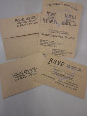 Custom Made Rustic Invitation