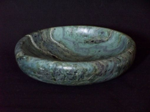 Custom Made Turquiose Jade Bowl